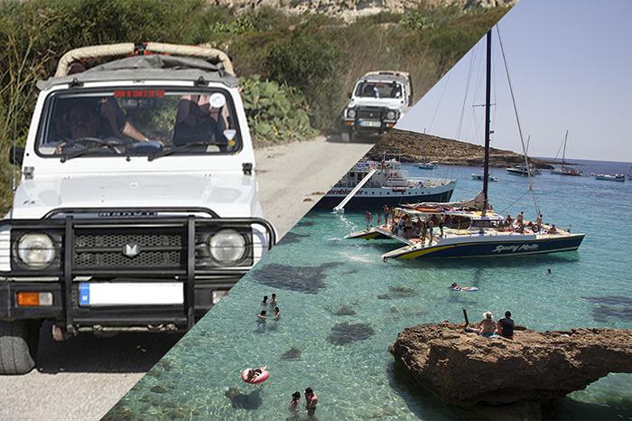 Une demi-journée en Jeep Safari à Gozo et une demi-journée de voyage en bateau